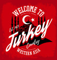turkey emblem or sign with muslim mosque vector image vector image