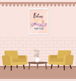 two chair with table in living room comfort vector image vector image