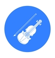 Violin icon in black style isolated on white vector image vector image
