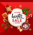winter sale card for new year holidays vector image vector image