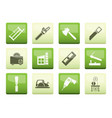 woodworking industry and woodworking tools icons o vector image vector image