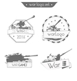 Set Logo WAR vector image