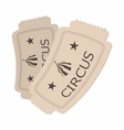 Circus show paper tickets cartoon vector image