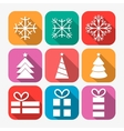 New Year icons vector image