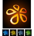 3d vibrant flowers vector image vector image