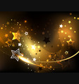 abstract background with golden stars vector image vector image