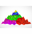 abstract mountain in polygonal style mountain vector image