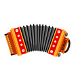 accordion folk musical instrument vector image