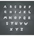 Alphabet on Chalkboard vector image vector image