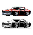 american vintage muscle car vector image vector image