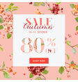 Autumn Sale Floral Hortensia Banner - for Discount vector image vector image