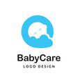 baby care logo vector image vector image