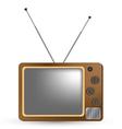 Brown Vintage TV vector image