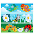 bugs banners collection 1 vector image