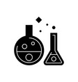chemistry lab - experiments icon vector image vector image