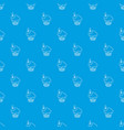 cherry cupcake pattern seamless blue vector image vector image