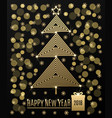 christmas tree with new year greeting vector image