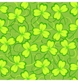 Clover leaves seamless pattern vector image vector image