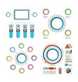colorful circle infographic set vector image vector image