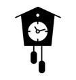 cuckoo-clock solid icon old clock vector image