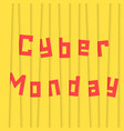 cyber monday with yellow stripes vector image