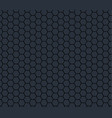 dark gray technology hexagon honeycomb seamless vector image vector image