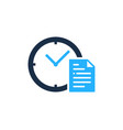 document time logo icon design vector image vector image