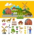 eco farm vector image