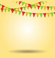 empty background with carnival flags vector image