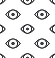 eye seamless pattern vector image vector image