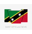 Flag of Saint Kitts and Nevis Flat Icon