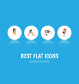 flat icon smartphone set of accumulator vector image vector image