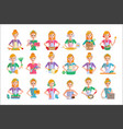 flat set of housewife icons woman doing vector image