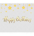 golden inscription happy birthday and the stars vector image