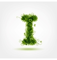 Green eco letter I for your design vector image