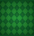 green plaid check cloth vector image
