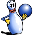 Hand-drawn of an Bowling Pin vector image