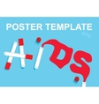 HIV and AIDS written in blood and test tubes vector image vector image