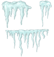icicles winter theme vector image