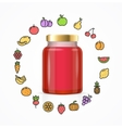 Jar Glass with Jam vector image vector image
