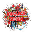 language school educational and travelling concept vector image vector image