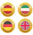 Made in Spain Italy Germany United Kingdom badges vector image