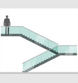 modern staircase with handrails 5 vector image vector image