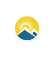 mountain icon logo template vector image vector image