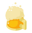 mug of beer icon isometric style vector image vector image
