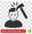Murder With Hammer EPS Icon vector image vector image