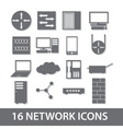 network icon collection eps10 vector image vector image