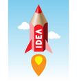 pencil rocket vector image vector image