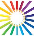 pencil round vector image vector image
