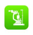 phoropter icon digital green vector image vector image